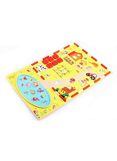 Learning Toys Ahşap Pano Çiftlik Oyun Seti Renkli